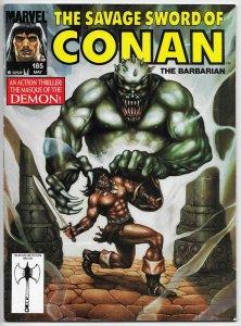 Savage Sword Of Conan Magazine #185 (Marvel, 1991) FN