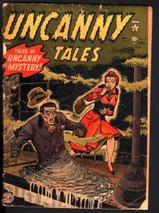 UNCANNY TALES #2-1952-JOE MANEELY-COVER-STAN LEE-GHOSTS-FREAKS-MELTING MAN