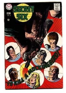 SECRET SIX #3-comic book DC-1968 vf/nm silver age