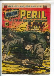Operation Peril #14 1952-ACG-G.I.'s in Deadly Combat-Capt Oliver Hazzard Perr...