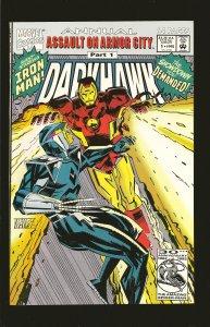 Marvel Comics Darkhawk Annual Assult of Armor City Part 1 Vol 1 No 1 1992