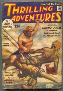Thrilling Adventures Pulp April 1934- MORO ARMS- fair