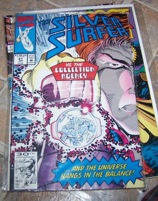Silver Surfer # 61  JAN 1992  MARVEL   VS THE COLLECTION AGENCY