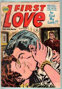 FIRST LOVE #41-1954-CRIME STORIES IN THIS ISSUE-VG-SPICY POSES-NICE ART VG