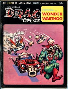 Drag Cartoons #33 1966-Tom Bell-Wonder Warthog-Gilbert Shelton-FN