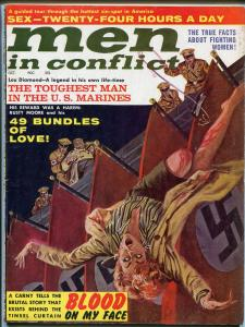 Men In Conflict  10/1962-weird menace-whips-cheesecake-pulp-war-VG/FN