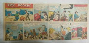 Roy Rogers Sunday Page by Al McKimson from 2/12/1950 Size 7.5 x 15 inches