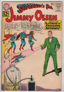 Jimmy Olsen, Superman's Pal  #63 (Sep-63) FN- Mid-Grade Jimmy Olsen