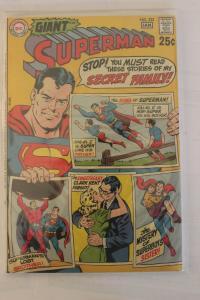 Superman #222 VF/NM 9.0 Superman's Secret Family DC Giant 1970 No Reserve