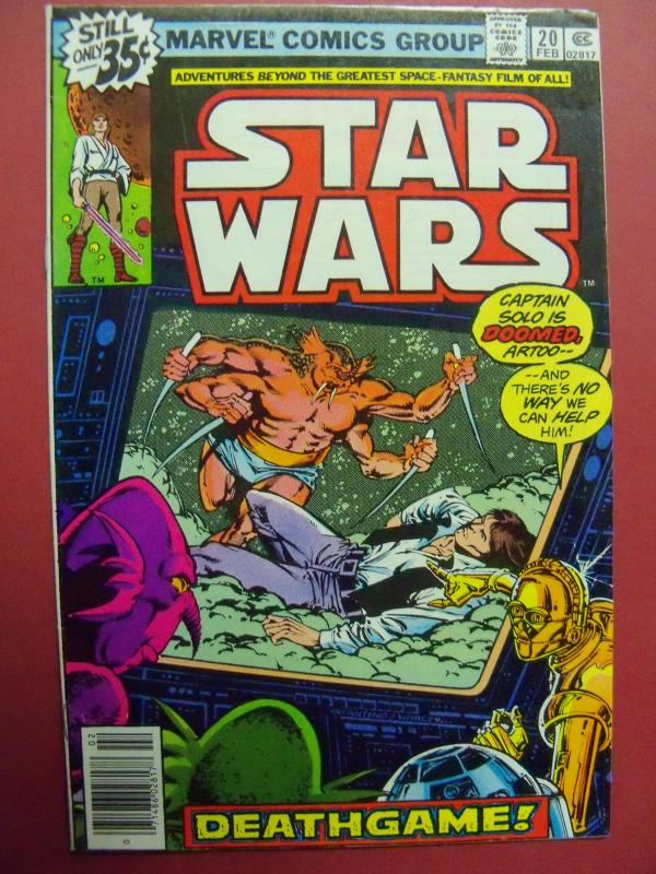 STAR WARS #20 STANDARD 35 CENT SQUARE PRICE BOX (VF/NM 9.0 OR BETTER)