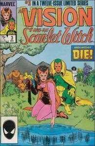 Marvel VISION AND THE SCARLET WITCH (1985 Series) #3 VF