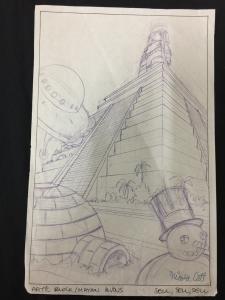Nicola Cuti Animated TV Series Original Concept Art signed