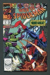 Web of Spiderman #67 / 9.0 VFN/NM  August 1990