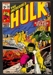 Incredible Hulk (1968) #143 VF- 7.5 Marvel Comics