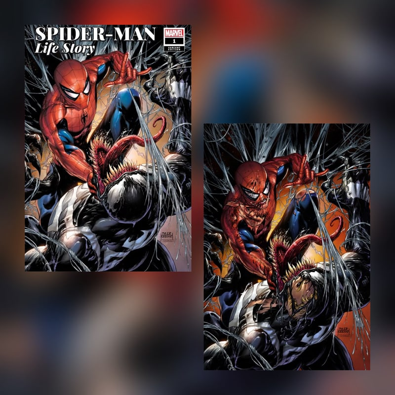 SPIDER-MAN: LIFE STORY #1 TYLER KIRKHAM VARIANT SET COVERS A+B