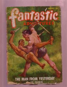 FANTASTIC ADVENTURES AUG 1948 PULP-FIGHTING JUNGLE MEN G
