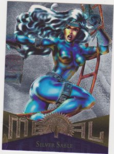 1995 Marvel Metal Flasher #40 Silver Sable