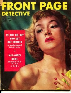 Front Page Detective-1/1953-Murder-Killer-Execution-VG