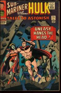 TALES TO ASTONISH #76-SUB-MARINER-HULK-SILVER AGE VG/FN
