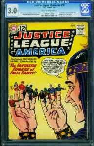 JUSTICE LEAGUE OF AMERICA #10 CGC 3.0 1962-1st Felix Faust 0959773003
