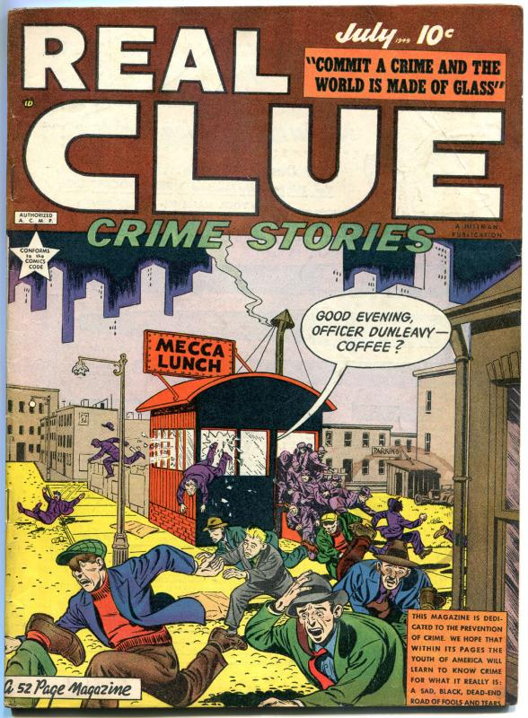 REAL CLUE CRIME STORIES V4 #5, VG+, 1947, Golden Age, Pre-code,more in store