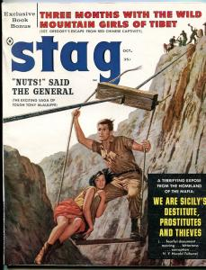 Stag Magazine October 1960- Mafia- Tony McAuliffe- Great cover VF