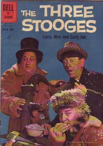 Four Color #1078 (Feb-60) VF- High-Grade Larry, Moe, Curly-Joe