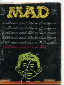 Mad-Magazine-#128-1969-Mort Drucker-Don Martin-David Berg-Al Jaffee