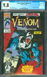 Venom: Lethal Protector #2 CGC Graded 9.8 Spider-Man appearance.