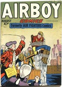 AIRBOY-VOL3#7-HILLMAN-1946-SKY WOLF-IRON ACE-FLYING DUTCHMAN-BONDAGE CVR