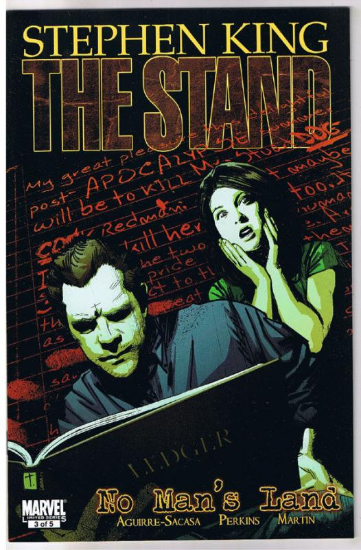 STEPHEN KING : STAND - NO MAN'S LAND #3, 2011, NM, Virus, more in store