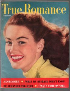 True Romance 9/1952-pin-up girl photo cover-exploitation-scandal-VG