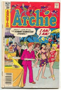 Archie #273 1978- Hawaii / Tiki party cover VG