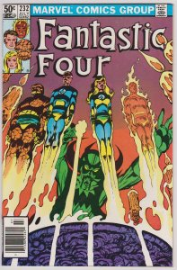 Fantastic Four #232 (F-VF) Copper Age 1981 John Byrne story and art