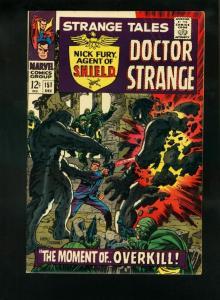 STRANGE TALES #151 1966-NICK FURY-DR STRANGE-KIRBY-STERANKO VF