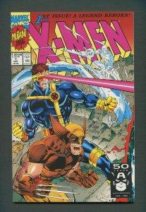 X-Men #1  (Wolverine Variant)  / 9.6 NM+  - 9.8 NM-MT  / October 1991