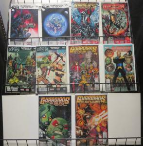 Guardians of the Galaxy (Marvel v3+4 2014-16) Lot of 10Diff Starlord Drax Rocket