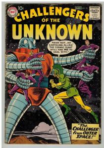 CHALLENGERS OF THE UNKNOWN 12 VG March 1960 classic era COMICS BOOK
