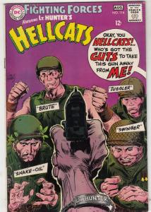 Our Fighting Forces #114 (Aug-68) VF- High-Grade Lt. Hunter, the Hellcats (Br...