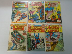 Action Comics lot 18 different 20c covers from #415-442 avg 4.0 VG (1972-74)