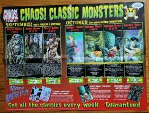 24 x 18 Chaos! Classic Monsters Comic Book Promo Poster NO PIN HOLES NEW
