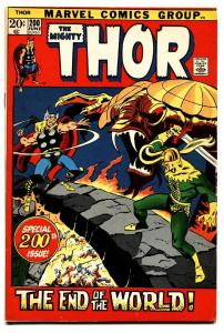 THOR #200 comic book 1972 MARVEL COMICS END OF THE WORLD LOKI VF-
