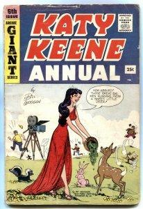 Katy Keene Annual #6 1959- Giant- paperdolls VG-