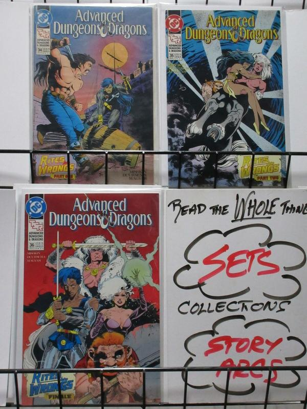 ADVANCED DUNGEONS & DRAGONS  (1988-1991 DC) 34-36