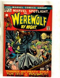 Marvel Spotlight # 4 VF Comic Book Feat. Werewolf By Night Mike Ploog Art RS2