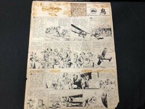 Tailspin Tommy Original Sunday Comic Art #392 April 18 1937- Hal Forrest