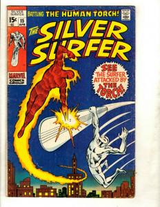 Silver Surfer # 15 FN Marvel Comic Book Avengers Fantastic Four Galactus GK1