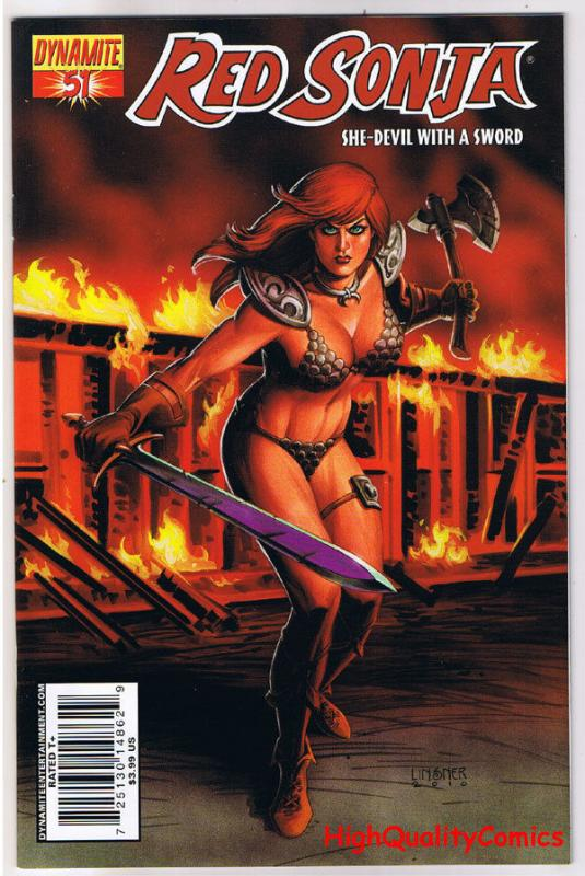 RED SONJA #51, NM-, She-Devil, Sword, Joseph Linsner, 2005, more RS in store