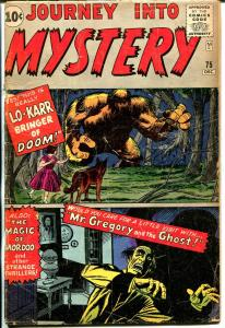 Journey Into Mystery #75-Marvel-Lo-Karr-Jack Kirby-Steve Ditko-horror-G/VG