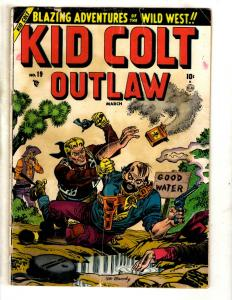 Kid Colt Outlaw # 19 VG Atlas Marvel Golden Age Comic Book Western Cowboy JL10